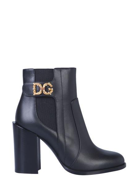 """Dolce & Gabbana - """"dg Love"""" Logo Leather Boot"""