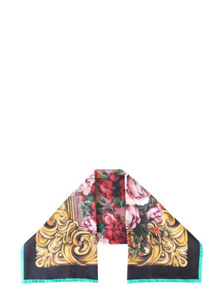 Dolce & Gabbana - Rose Printed Baroque Silk Scarf