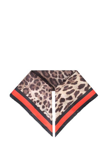 Dolce & Gabbana - Leopard Printed Silk Scarf