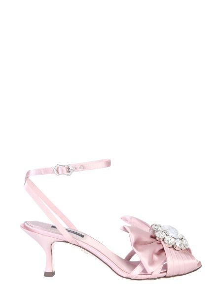 Dolce & Gabbana - Sandalo Con Fiocco E Cristalli