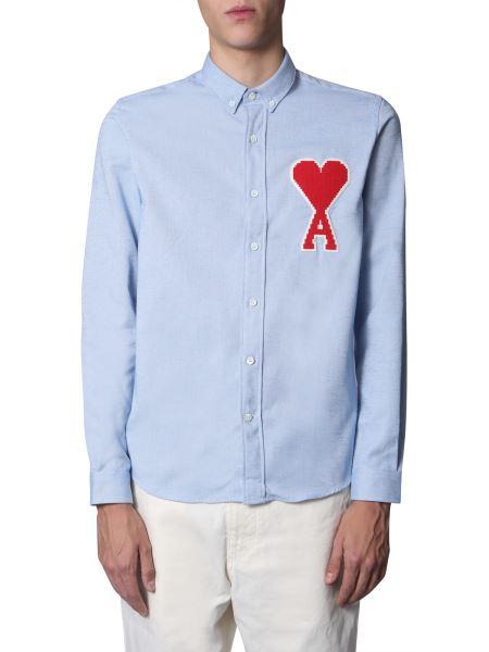 Ami - Camicia In Cotone Con Patch Ami De Coeur
