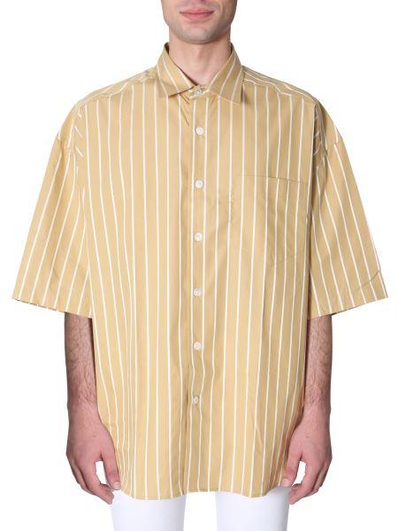 Ami - Camicia Oversize Fit A Maniche Corte In Cotone A Righe