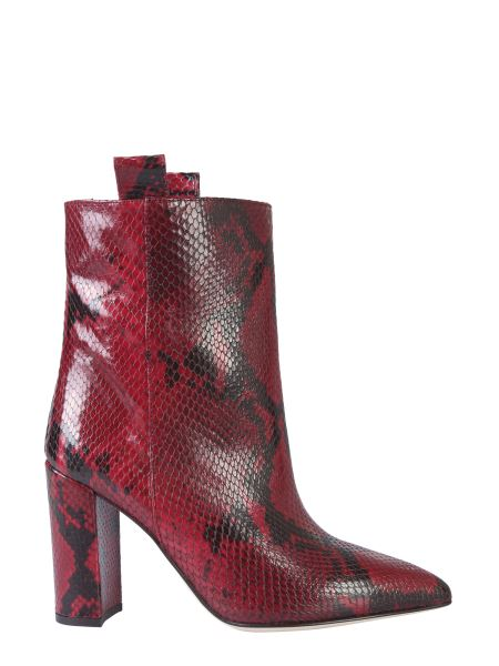 Paris Texas - Pythoned Effect Leather Boot