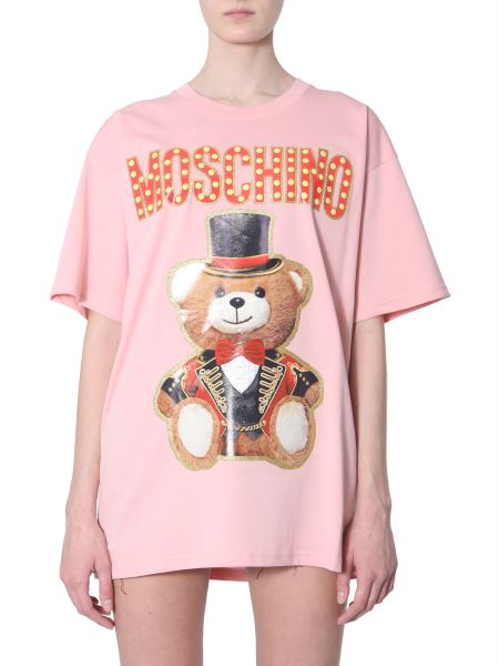 0ea017be Moschino Teddy Bear Circus Printed Oversized Fit Cotton T-shirt ...