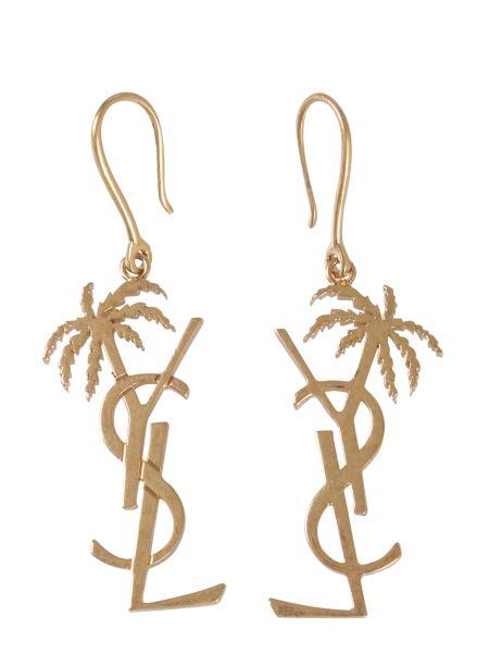 Saint Laurent - Monogram Palmier Metal Earrings