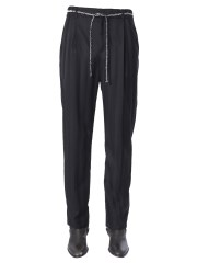 SAINT LAURENT - PANTALONE JOGGER A RIGHE