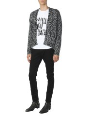 SAINT LAURENT - CARDIGAN JACQUARD COMICS