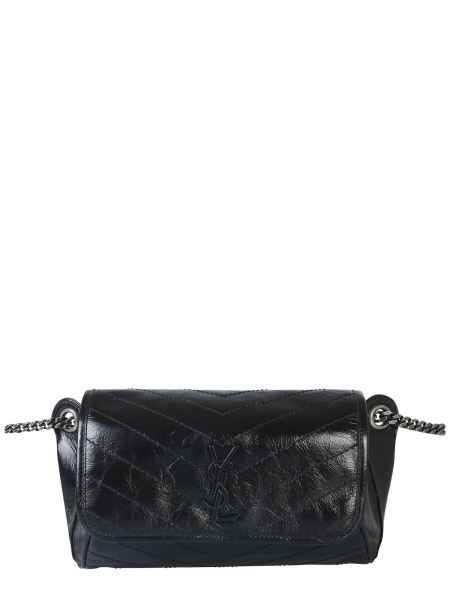 Saint Laurent - Niki Pouch In Crinkled Vintage Leather