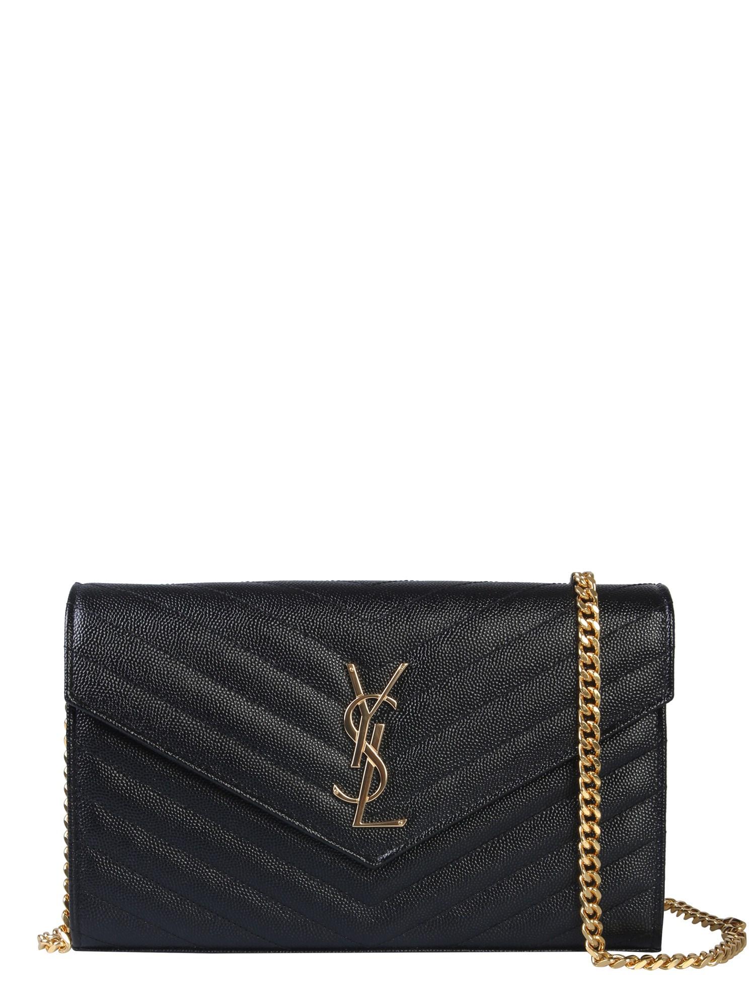Bolsa monograma de pele Yves Saint Laurent