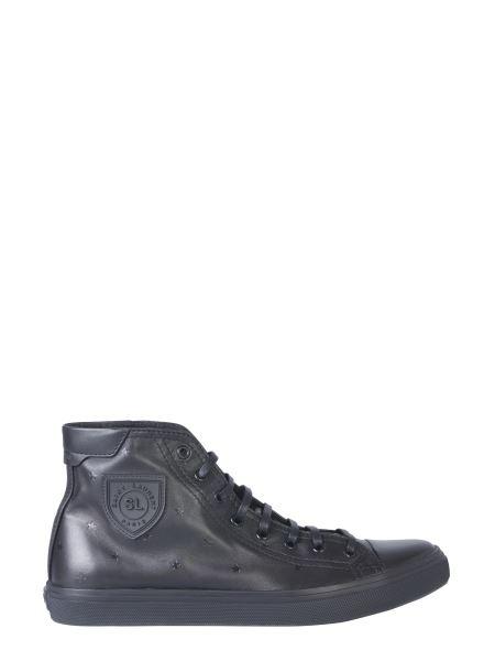 Saint Laurent - Sneaker Bedford Star In Cotone E Pelle