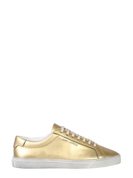 Saint Laurent - Low Andy Laminated Leather Sneakers