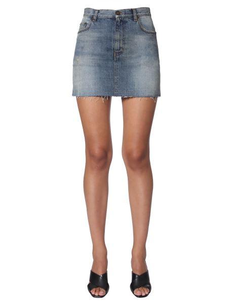 Saint Laurent - Denim Cotton Mini Skirt