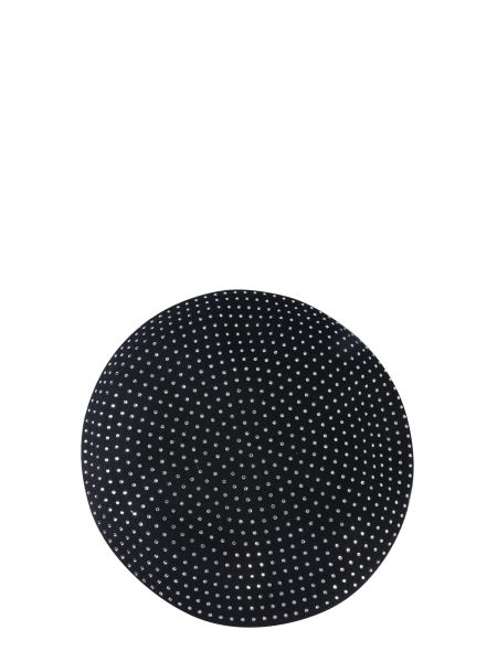 Saint Laurent - Wool Hat Decorated With Crystals