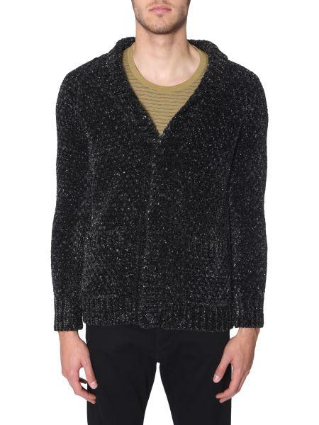 Saint Laurent - Lurex Ciniglia Long Knitted Cardigan