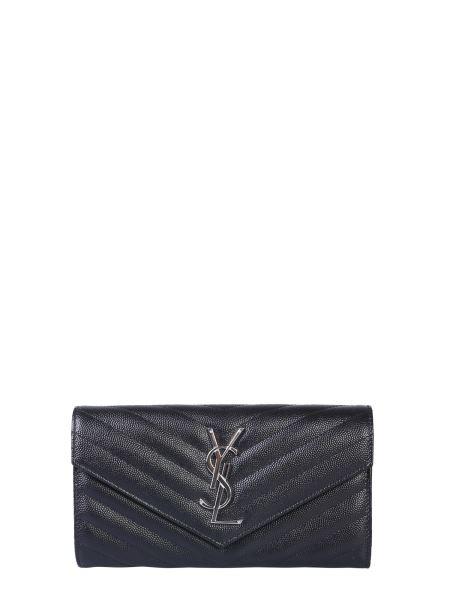 Saint Laurent - Monogram Wallet In Powder Grain Leather