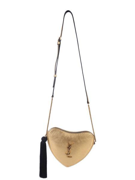 Saint Laurent - Heart Bag In Laminated Leather With Shoulder Strap