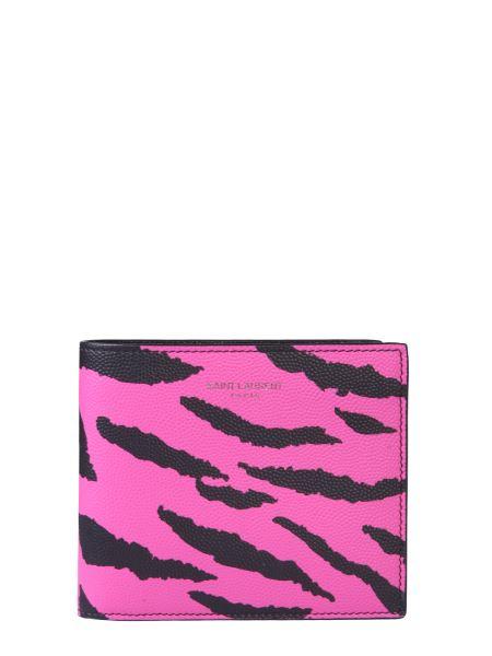 Saint Laurent - Zebra Print Leather Monogram Wallet