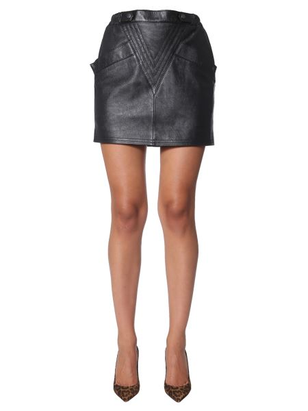 Saint Laurent - Short Skirt With Triangle Stitch