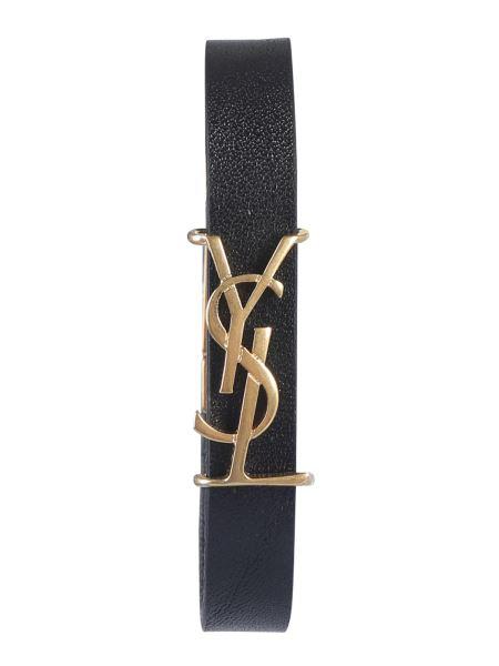 Saint Laurent - Leather Bracelet With Logo