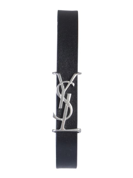 Saint Laurent - Leather Bracelet With Logo
