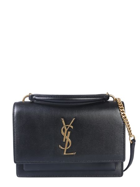 Saint Laurent - Mini Sunset Leather Shoulder Bag