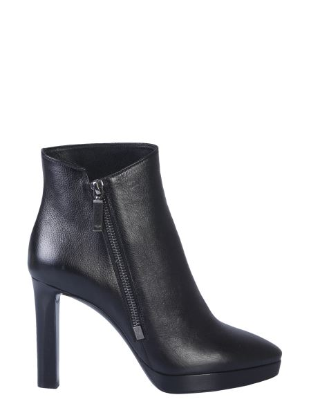 Saint Laurent - Hall Leather Boot With Zip
