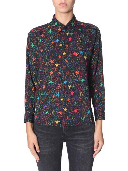 Saint Laurent -  star Print Silk Shirt