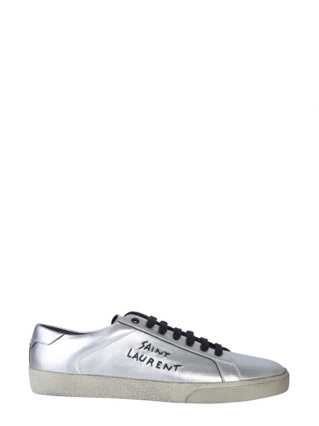 Saint Laurent - Sneaker Court Classic In Pelle Laminata