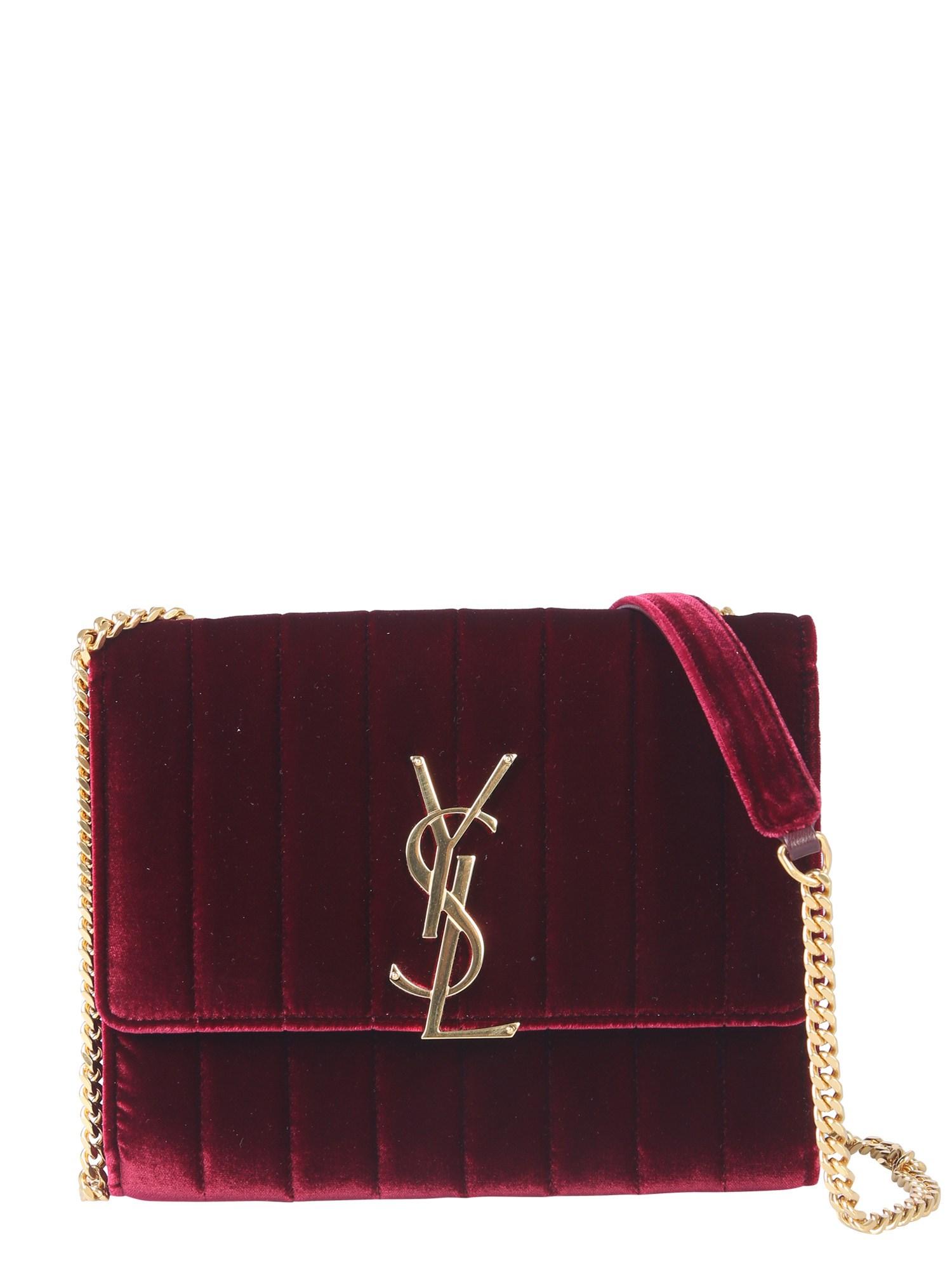 Bolsa Mini Vicky efeito veludo Yves Saint Laurent