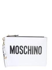 MOSCHINO - POCHETTE CON STAMPA LOGO