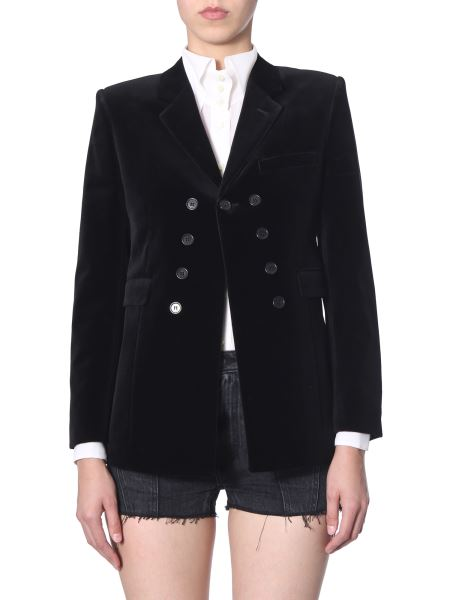 Saint Laurent - Velvet Jacket With Buttons
