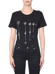SAINT LAURENT - T-SHIRT CON STAMPA PALME