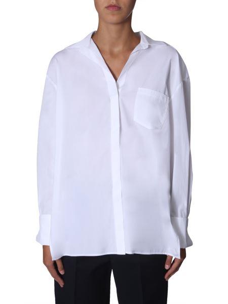 "Sportmax Code - Oversize Fit "" Rise "" Cotton Poplin Shirt"