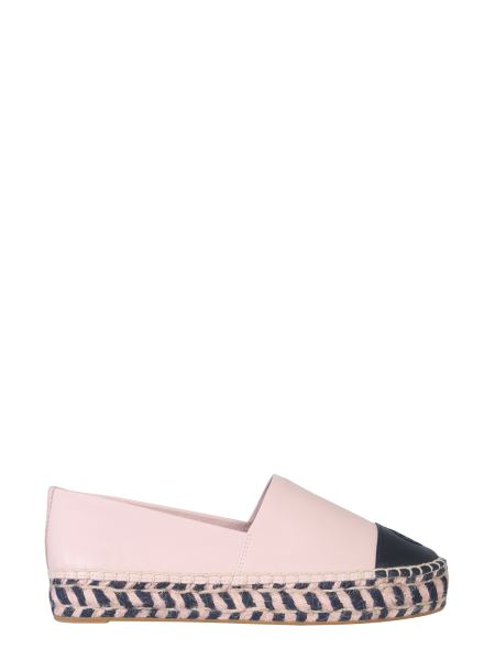 Tory Burch - Espadrillas In Pelle Color Block E Plateau