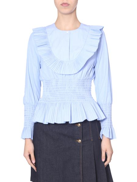 Tory Burch - Blusa In Cotone Smocked