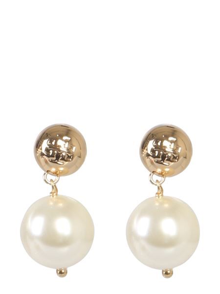 Tory Burch - Brass Earring With Pearl Pendant