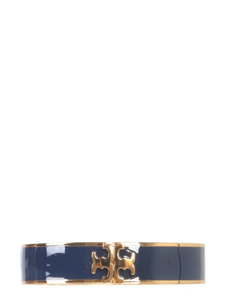 Tory Burch - Bracelet With Hook And Logo Enameled In Brass