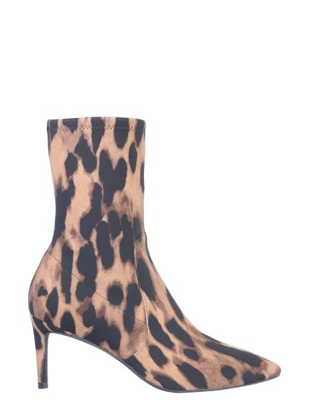 Stuart Weitzman - Wren Printed Suede Leather Ankle Boot