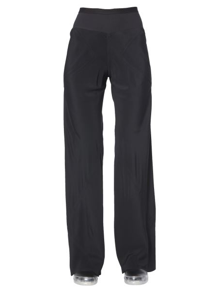 Rick Owens - Silk And Crepe Large Pants With Side Pockets