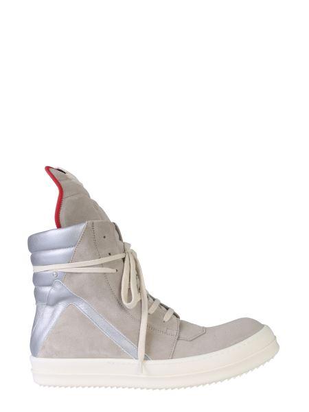 Rick Owens - Sneaker Geobasket In Pelle Scamosciata