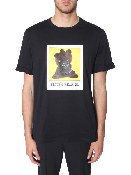 Neil Barrett -  cotton Round Neck T-shirt With Fetish Bear Print 01