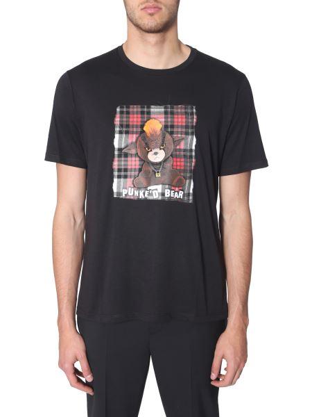 Neil Barrett - T-shirt Con Stampa Punke'd Bear