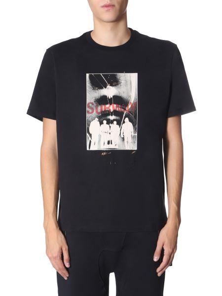 Neil Barrett - Chaotic Subway Print Loose Fit Cotton T-shirt