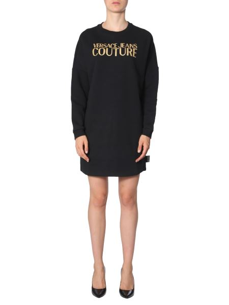 Versace Jeans Couture - Cotton Sweatshirt Dress With Logo