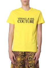 VERSACE JEANS COUTURE - T-SHIRT CON LOGO GOMMATO