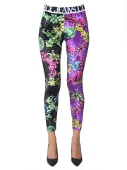 VERSACE JEANS COUTURE - LEGGINGS IN VELLUTO