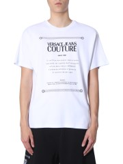 VERSACE JEANS COUTURE - T-SHIRT CON STAMPA LOGO