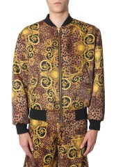 VERSACE JEANS COUTURE - BOMBER CON STAMPA LEOBAROQUE