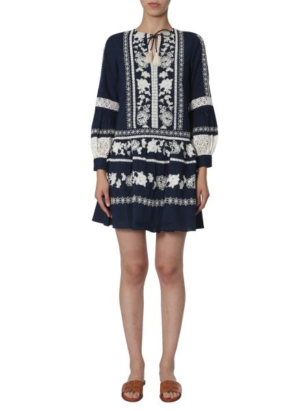 Tory Burch - Boho Cotton Dress With Embroidery