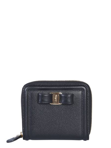 Salvatore Ferragamo - Small Zip Around Vara Bow Wallet